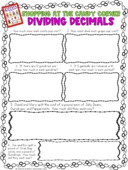 Multiplying And Dividing Decimals Project By Teaching With