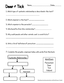 Mutualism Reading Comprehension Worksheets
