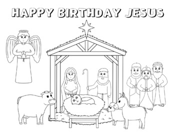 Nativity Coloring Worksheets Teaching Resources Tpt
