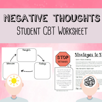 Cbt Worksheet For Kids