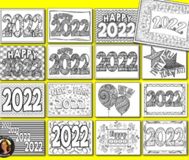New Year  Coloring Pages For Teens And Adults By Tracee Orman