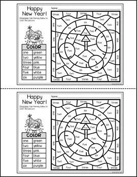 New Years 2020 Activities For Math And Writing Color By Number Writing Sheets