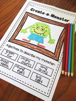 Nouns Adjectives Amp Verbs Printable Worksheet Bundle