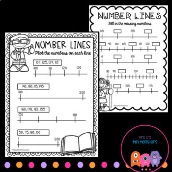 Number Lines To 200 Worksheets By Mrs G S Mini Monsters