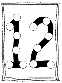 Numbers Do A Dot Number 12 Printable Preschool Daycare