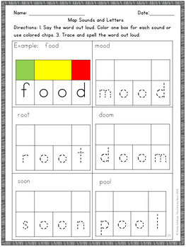 Oo Vowel Digraph Word Work Multisensory Phonics Activities