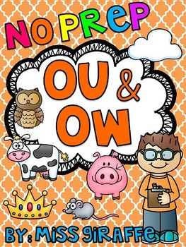 Ou And Ow Worksheets Amp Activities No Prep By Miss