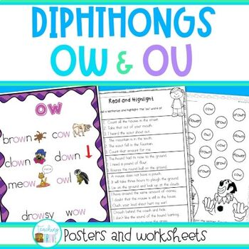 Ow And Ou Diphthongs