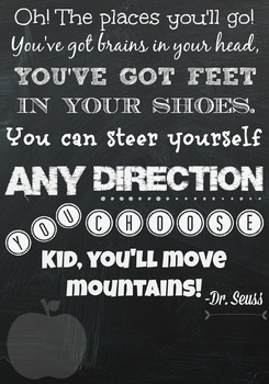 oh the places you ll go dr seuss poster