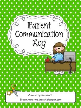 Parent Communication Log For Teachers By More Time 2 Teach TpT