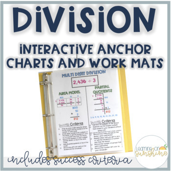 Partial Quotients Division Strategies Anchor Chart And