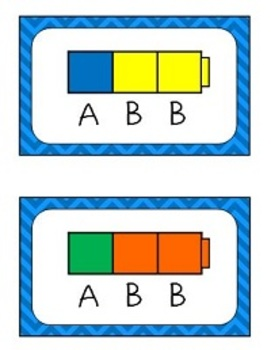 Pattern Cards Ab Abc Abbc Aab Abb Aabb Abcd By