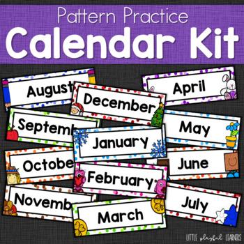Pattern Practice Calendar Kit for preschool and kindergarten