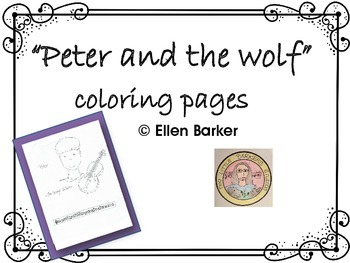 peter and the wolf coloring pages # 3