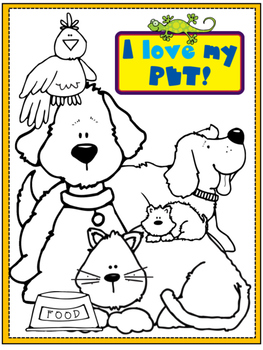 Pets Coloring Page By Preschoolers And Sunshine Tpt