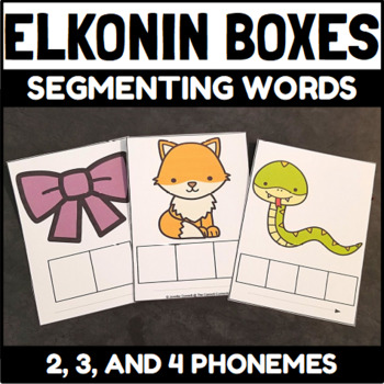 Elkonin Boxes And Phoneme Cards By The Connett Connection