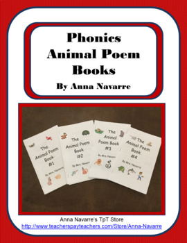 Phonics Animal Poem Books By Anna Navarre Teachers Pay