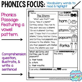 Phonics Reading Passages R Controlled Amp Ambiguous Vowels