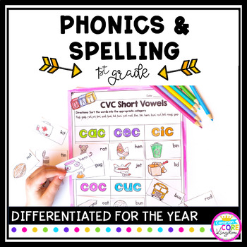 Image showing Phonics and Spelling Product for 1st Grade