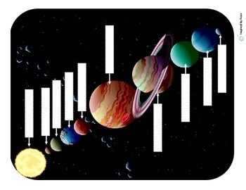 Planets and Our Solar System Cut and PasteLabelSequence