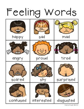 Emotions (A Set of Posters for Feeling Words) by Andrea ...