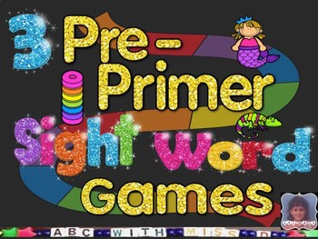 Pre Primer Sight Word Board Games Kindergarten and First Grade Dolch     Pre Primer Sight Word Board Games Kindergarten and First Grade Dolch Word  Fun