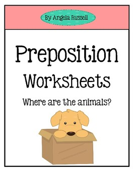 Preposition Worksheets Set 2 By Lily B Creations