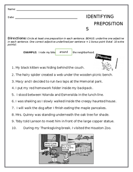 Prepositions Worksheet Free By Five Dollars Or Less