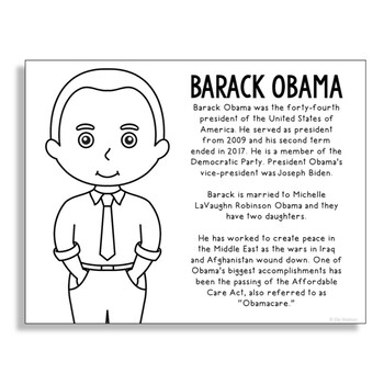 barack obama coloring page # 10