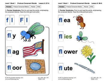 Produce Consonant Blends Fl And Fr Lesson 9 Book 1