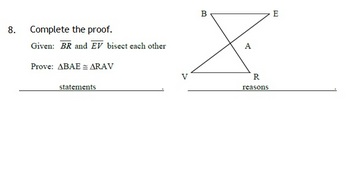 Proving Triangles Congruent Proofs Quiz By Misscalcul8