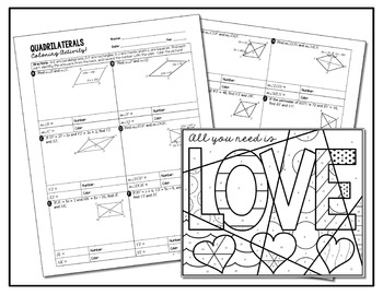 Quadrilaterals Popular Easy Coloring Activity Love Answers
