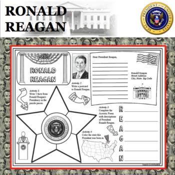 ronald reagan poster u s president research project biography