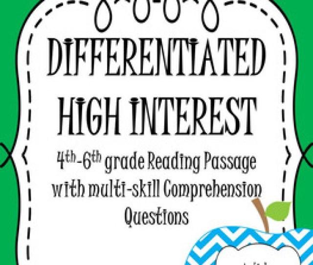 Reading Passages High Interest Non Fiction Article