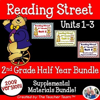 Reading Street 2nd Grade Unit 1-2-3 Bundle Supplemental ...