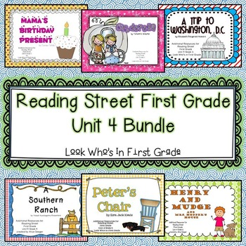 Reading Street First Grade Unit 4 Bundle By Look Whos In
