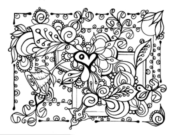 relaxing coloring pages # 7