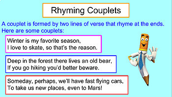 Rhyming Couplets Presentation By The Teacher S Craft