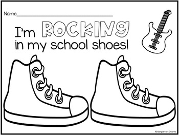 Rocking In My School Shoes Coloring Page By Kindergarten Smarts Tpt