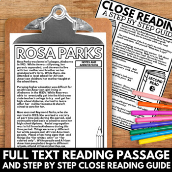 rosa parks black history month unit information and research project
