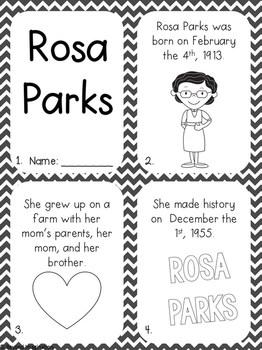 Rosa Parks Activity Pack Black History Month Printable Worksheets For Kids