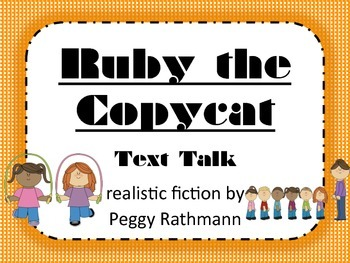 Ruby the Copycat Text Talk Supplemental Materials by ...