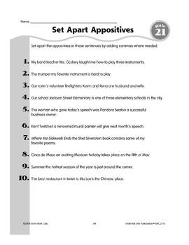 Rule 21 Comma Usage Set Apart An Appositive