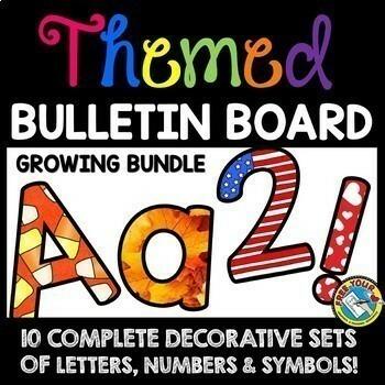 seasonal holiday winter bulletin board letters printable classroom decor bundle
