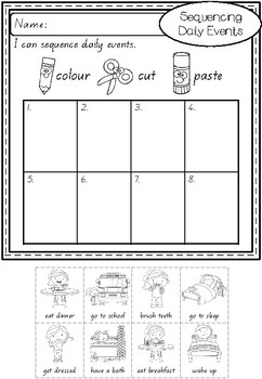 Sequencing Daily Events By Apples And Antics