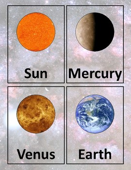 SOLAR SYSTEM - BASIC FLASH CARD SET by Take Your Time ...