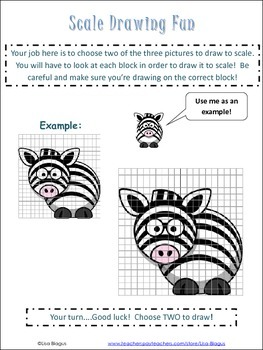 Scale Drawing Examples Practice Worksheet; Fun Project | TpT