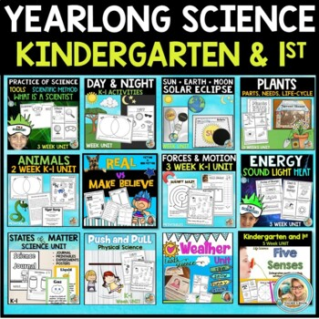 Science BUNDLE kindergarten and 1st Grade