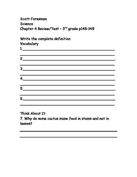 Scott Foresman Science 3rd Grade Chapter 4 By Joy S World