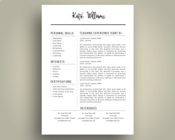 Script 3 in 1 teacher resume template for MS PowerPoint  updated     Script 3 in 1 teacher resume template for MS PowerPoint  updated business  cards